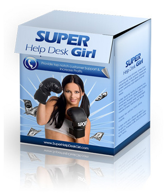 Product picture Super Help Desk Girl Script with Private Label Rights